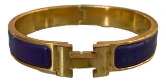 Hermã ̈S HermAs Clic H Purple Gold plated Bracelets