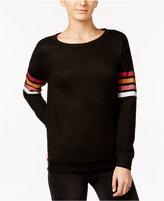 Hippie Rose Juniors' Striped-Sleeve Top