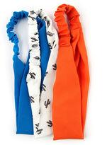 Carole 3-pk. Solid & Cactus Print Fabric Headbands