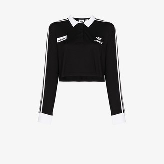 adidas '70s Contrast Collar Cropped Top