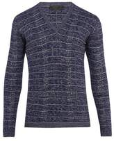 Prada V-neck Wool-blend Sweater