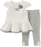 Calvin Klein 2-Pc. Quilted Peplum Tunic & Capri Leggings Set, Baby Girls (0-24 Months)