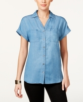 Style&Co. Style & Co Style & Co Petite Denim Shirt, Created for Macy's