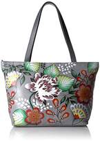 Anuschka Anna Handpainted Leather Large Tote-Garden of Eden