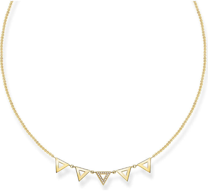 Thomas Sabo Triangle 18ct yellow gold-plated and diamond necklace
