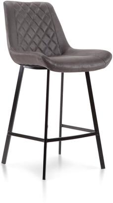 Vetro Furniture Costa Bar Stool Charcoal