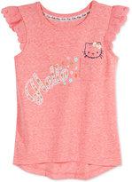 Hello Kitty Flutter-Sleeve Top, Toddler & Little Girls (2T-6X)