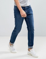 Dr. Denim Clark Slim Jeans in Organic Cotton Mid Blue