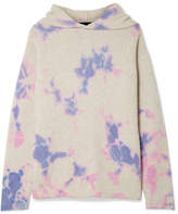 The Elder Statesman Tie-dyed Cashmere Hooded Sweater - Pink