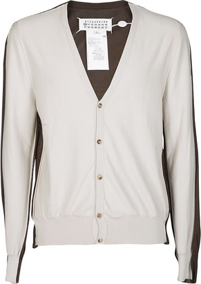 Maison Margiela Brown And Beige Cotton Cardigan
