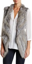Bagatelle Genuine Rabbit & Genuine Coyote Fur Vest