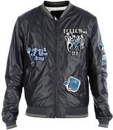 Dolce & Gabbana Grey Musical Patch Bomber Jacket