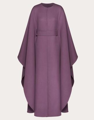 Valentino Belted Wool Cape Women Real Purple Virgin Wool 100% 44