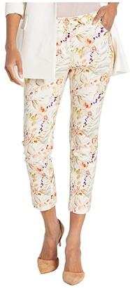 Elliott Lauren Garden Path Five-Pocket Floral Print Crop Jeans in Natural Multi (Natural Multi) Women's Jeans