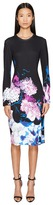 Prabal Gurung Printed Viscose Long Sleeve Knit Dress Women's Dress
