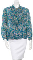 Etoile Isabel Marant Floral Print Pleated Top w/ Tags