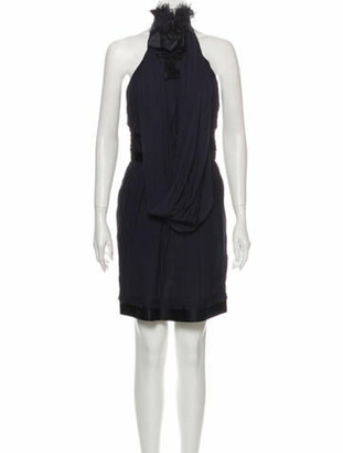 Chanel 2008 Knee-Length Dress Blue