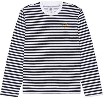 adidas x HUMAN MADE Long Sleeve Tee in Collegiate Navy | FWRD