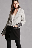 Forever 21 FOREVER 21+ Wool-Blend Colorblock Coat
