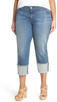 KUT from the Kloth Plus Size Women's Wide Cuff Boyfriend Jeans