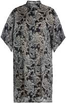 Acne Studios Debrah paisley-print step-hem shirtdress