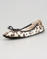 Jacques Levine Inslee Leopard-Print Ballerina Flat