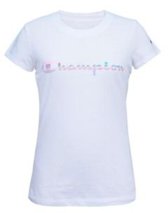 Champion Big Girls Rainbow Script Tee