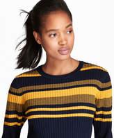 Brooks Brothers Striped Rib-Knit Merino Wool Sweater