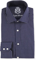 English Laundry Checked Long-Sleeve Dress Shirt, Navy