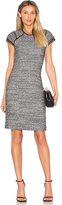 Rebecca Taylor Short Sleeve Stretch Tweed Shift Dress