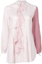 J.W.Anderson contrast sleeve shirt - women - Silk/Mother of Pearl - 6