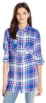 Derek Heart Juniors Fergie's Flannel Plaid Button Front Shirt
