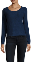 Qi Cashmere Garter Stitch Cropped Sweater
