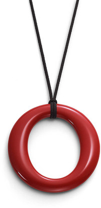 Tiffany & Co. Elsa Peretti Sevillana pendant in red lacquer over Japanese hardwood