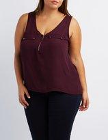 Charlotte Russe Plus Size Flap Pocket Tank Top