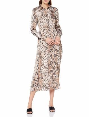 Pieces Women's Pccelinen Ls Maxi Dress