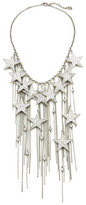 Ben-Amun Rock Star Crystal Chain Fringe Necklace
