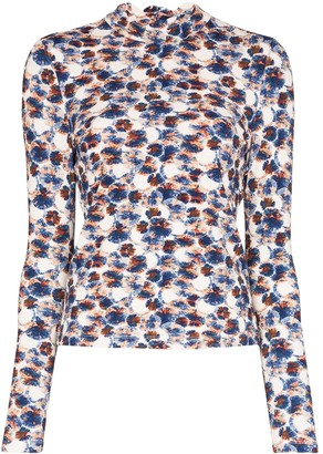 Marysia Swim Rashguard watercolour-print top