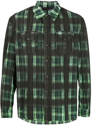 B Used Contrast Checked Shirt