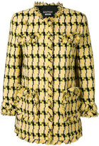 Moschino frayed detail tweed jacket