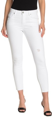STS Blue High Rise Distressed Crop Ankle Skinny Jeans