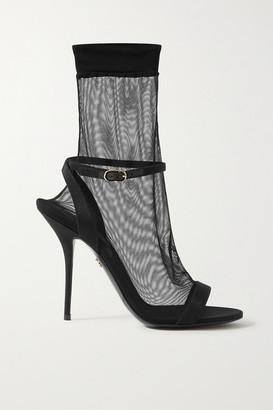 Dolce & Gabbana Tulle And Grosgrain Sandals - Black