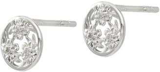 Sterling Diamond Accent Flower Post Earrings