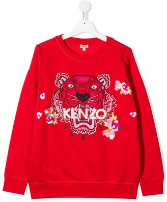 Kenzo Kids TEEN Japanese Tiger sweatshirt