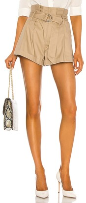 Marissa Webb Dixon Paper Bag Lightweight Canvas Short