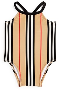 Burberry Girls' Icon Stripe Swimsuit - Baby