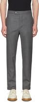 Moncler Gamme Bleu Grey Button Cuff Trousers