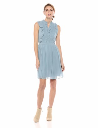 Cupcakes And Cashmere Women's Hastings Ruffle Detailed Fit and Flare Dress