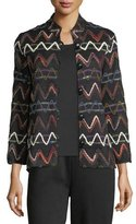 Caroline Rose Zigzag Striped Jacket, Plus Size