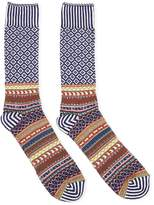Anonymous Ism Litanian Multi Crew Socks Navy - Navy